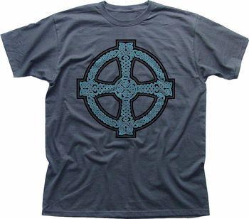 модные для мужчин футболки кельтский крест дизайн ирландия