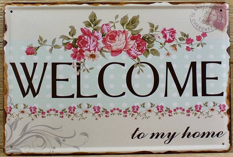 NEW 2015 About to my home Tin signs Retro decoration cafe bar  Vintage Metal plaque Painting Poster decor 20X30 CM Free shipping