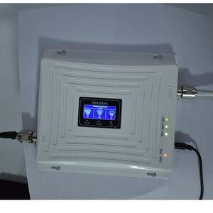 Image 2 - 2G 3G 4G סלולארי מגבר אות ניידת מהדר GSM 900 WCDMA 2100 DCS LTE 1800 mhz אות booster משחזר לשלושה להקת 70dB