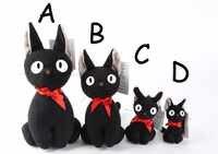 Große Größe Jiji Katze Studio Ghibli Hayao Miyazaki Kiki der Schwarz Jiji Plüsch Puppe Spielzeug Kawaii Schwarz Katze Kiki Gefüllte tier Spielzeug Für Kind