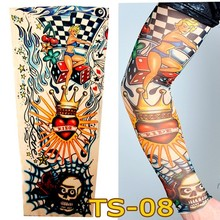 1 Pc Tattoo Sleeves W-08 Styles Elastic Fake Nylon Arm Stockings Love Girl Design Simulation Tatoo COOL Men-women