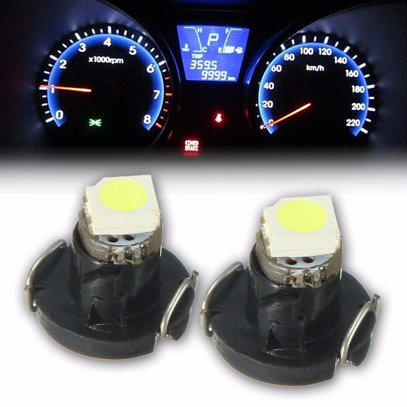 10x T3 3528 1 SMD 0.7W 8LM Auto Car LED Neo Wedge Bulb Instrument Gauges Dashboard Dash Indicator Light Bulbs White 6000K DC12V 3156 12w 600lm osram 4 smd 7060 led white light car bulb dc 12v