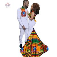 2017 Fashion African Clothing Dresses for Women Ankara Style Batik Prints Men's Suit & Lady Sexy Dress Couples Clothing WYQ52