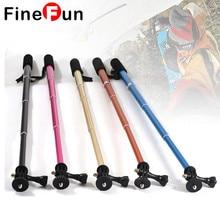 FineFun Mobile Phone Self-timer Telescopic Rod for Gopro4 3 Sports Camera Telescopic Rod Portable Aluminum Selfie Sticks #A1920