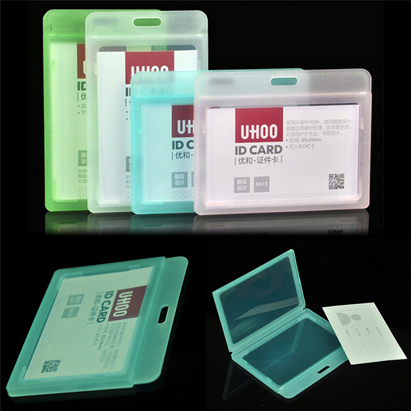Waterproof ID Card Cover Business Badge Holder Plastic Porte Badge Case Entrance Guard Card Chest Card Holder Office Supplies