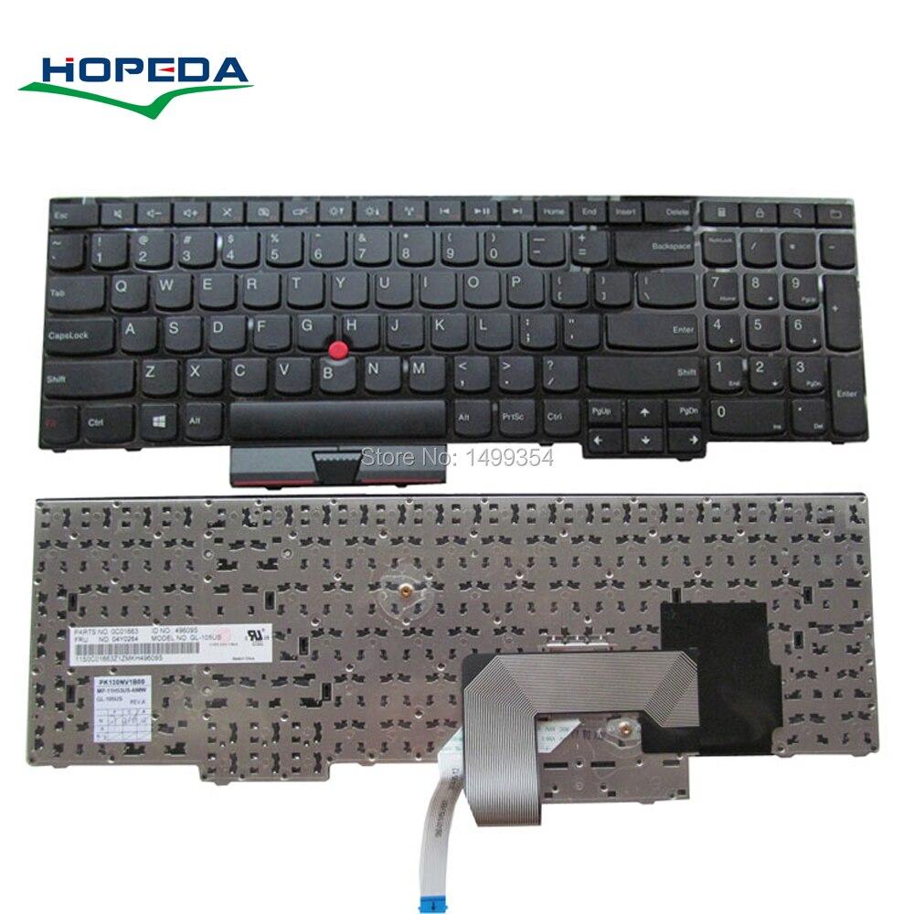 Nouveau clavier d'ordinateur portable pour Lenovo Thinkpad E530C E530 E545 E535 E530 remplacement de clavier