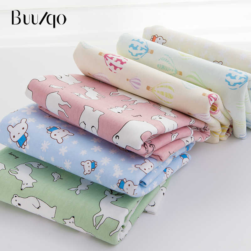 0e056fb564f Buulqo New arrival cotton knitted fabric stretchy Printed cartoon jersey  fabric by half meter DIY baby