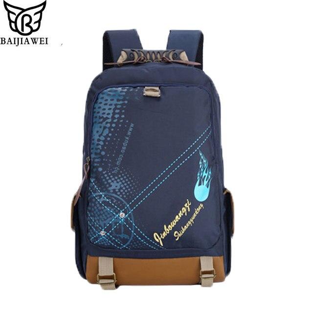 BAIJIAWEI Brand Desian New School Backpacks Cartoon Style Boys Schoolbags For kids Children Shoulder Bags Mochila Infantil