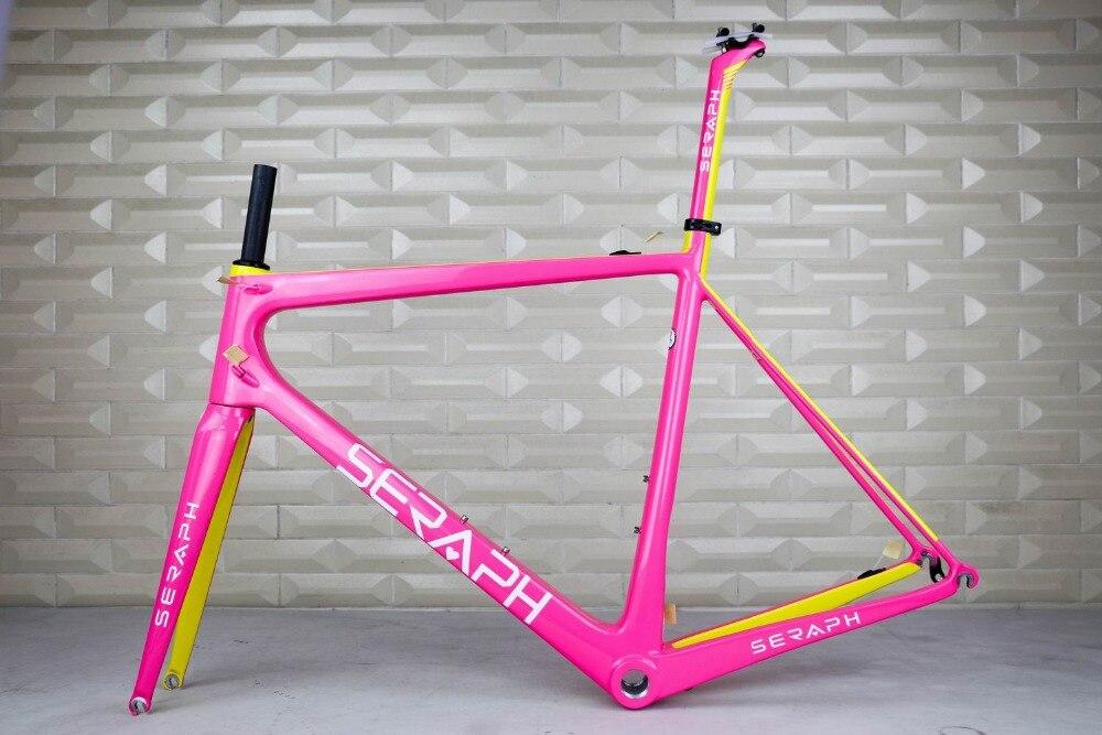 SERAPH brand OEM Products,Chinese super light road carbon frame,Carbon Fiber road bike Frame,Complete Bicycle Carbon Frame