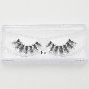 Image 5 - Visofree Mink Lashes 3D Mink Eyelashes Invisible Band Natural Black Mink False Eyelash Full Strip cilios posticos Reusable F41