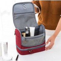High Qulity Oxford Hanging Cosmetic Bags Women Travel Organizer Makeup Bag Large Capacity Wash Bags Double
