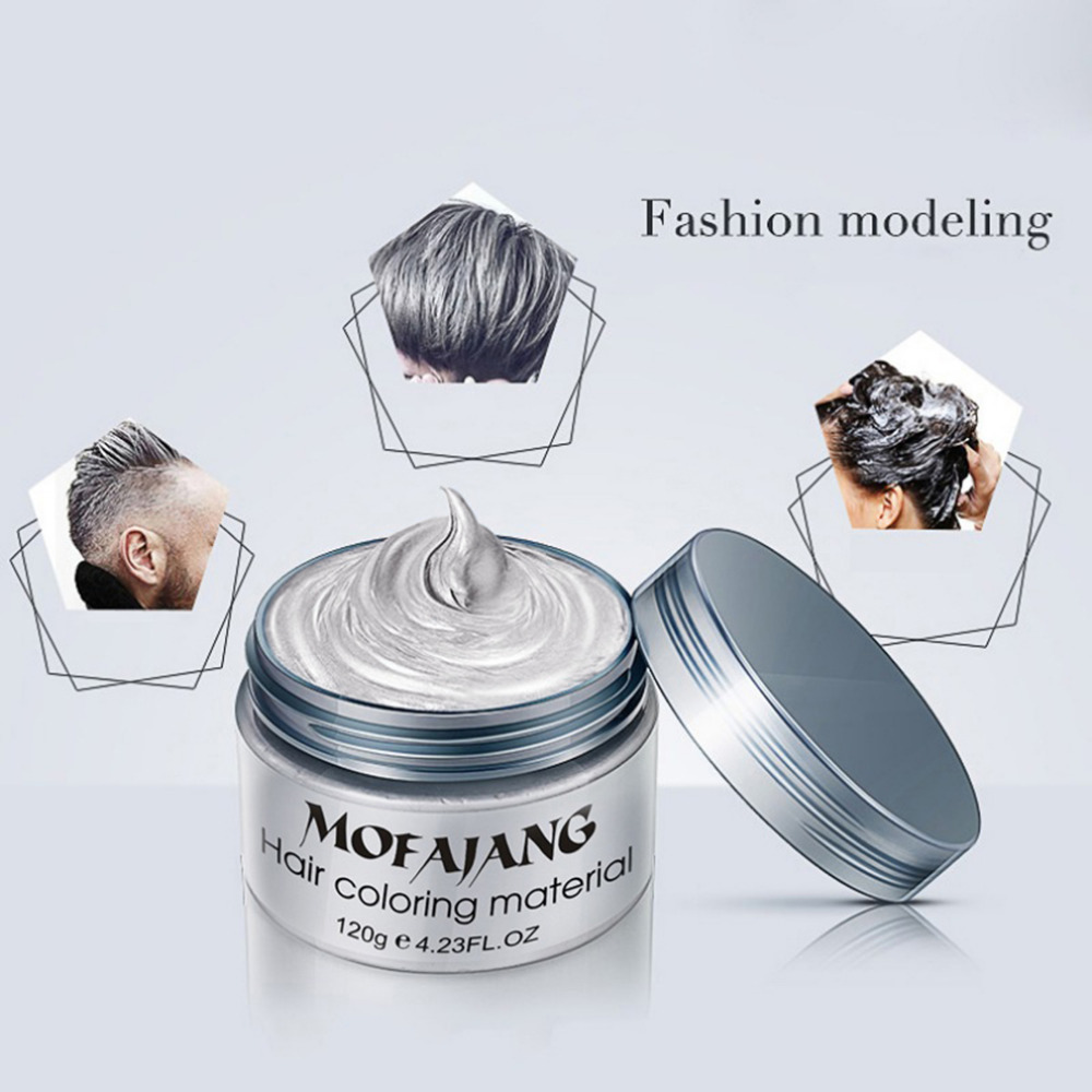 Fashion Hair Coloring Material Styling One Time Hair Wax Disposable Hair Dye Mud Easy To Wash Plants Component Hot New in Pomades Waxes from Beauty Health