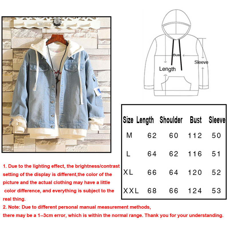 Image 5 - Cosroad Attack on Titan Jeans Jacket Scout Regiment Cosplay Denim Jacket Autumn Hooded Sweatshirt Outwear Coat-in Anime Costumes from Novelty & Special Use
