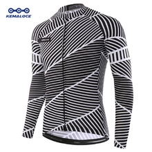 Autumn Full Sleeves Cycling Jersey Wear Maillot Ropa Ciclismo Men Bicycle Shirts Quick dry Bike Jersey Sports Long Cycling Shirt