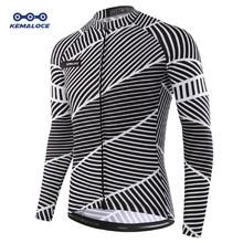 Jersey de Ciclismo de manga larga para hombre, Ropa de vestir Maillot, camisetas de bicicleta de secado rápido, Ropa deportiva, otoño