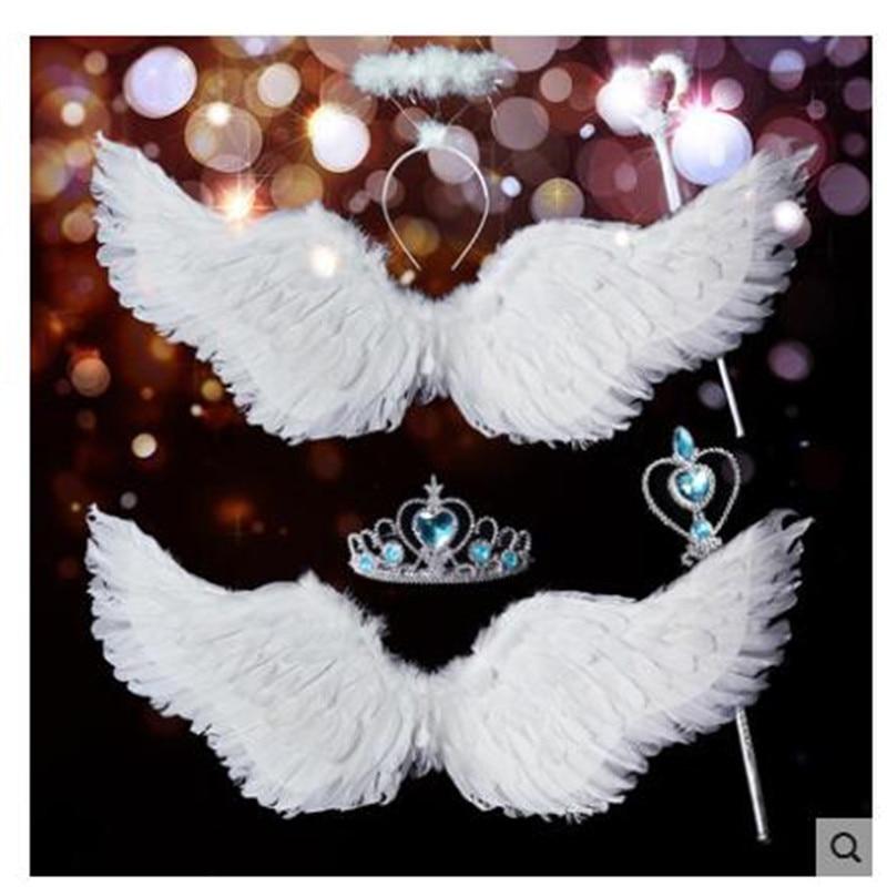 Wing Halloween Xmas Decorate Wedding Bride Flower Girl Angellwing White Feather Adult chilren Victoria Secret Kids coustume sexy victoria u0027s secret купальники недорого