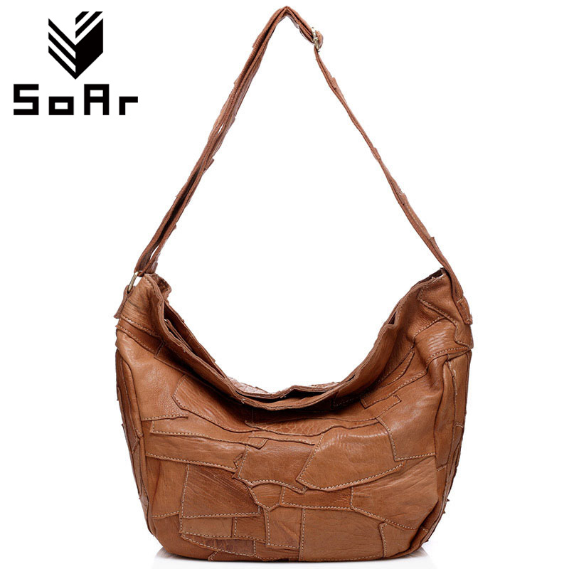 SoAr Patchwork genuine leather bag designer handbags high quality luxury Crossbody Shoulder Bags for women messenger bags casual hongu genuine leather crossbody shoulder bags for women designer handbags high quality small square casual side purse