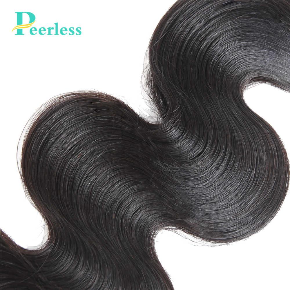 PEERLESS Virgin Hair Weave Peruvian Body Wave 3 Bundles Natural Color 100% Unprocessed Raw Human Hair Extensions