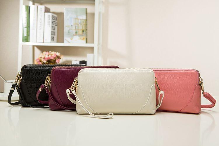 Feminine Top Flap Genuine Leather Messenger Bag