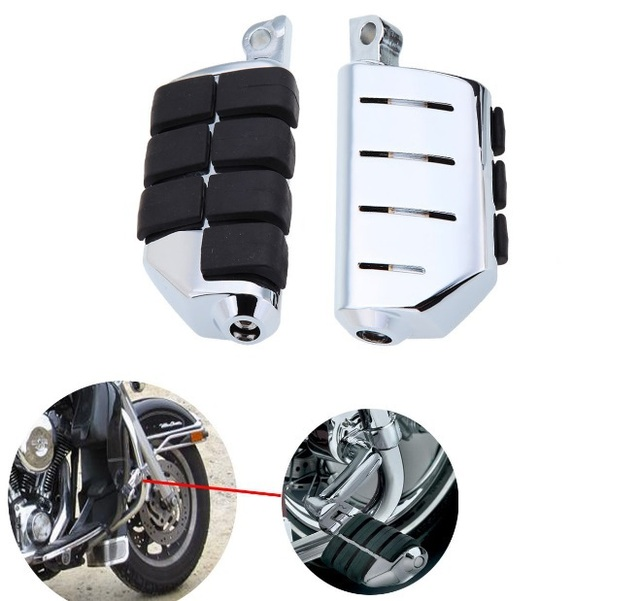 Aftermarket free shipping motorcycle parts 8028 ISO Dually Foot Rest pegs For  Touring Electra Glide Softai  Dyn Chromed