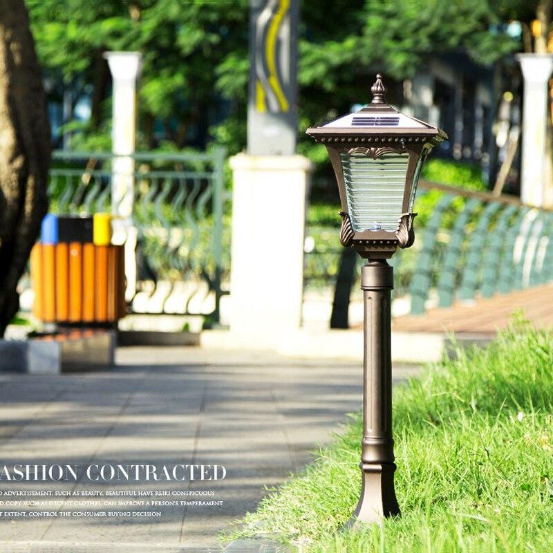 Waterproof Solar lawn light outdoor grass lamps villa home garden light 80cm Tall in LED Lawn Lamps from Lights Lighting
