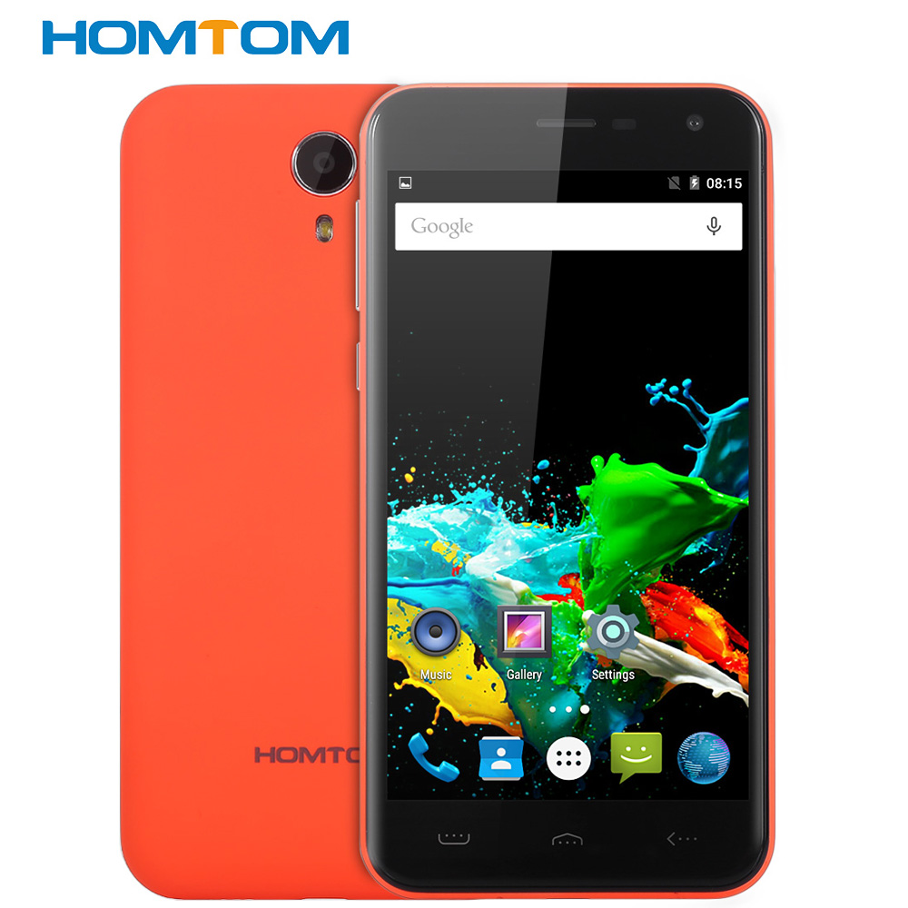 Original HOMTOM HT3 5,0 ''2.5D HD Screen Android Handy MTK6580 Quad Core 1 GB + 8 GB Dual Cams Smart Geste 3G Smartphone