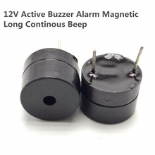 5 шт. 12 в активный сигнал будильника Магнитный длинный непрерывный сигнал бипера 12*9,5 мм Эхолот динамик SOT длина пластиковой трубки