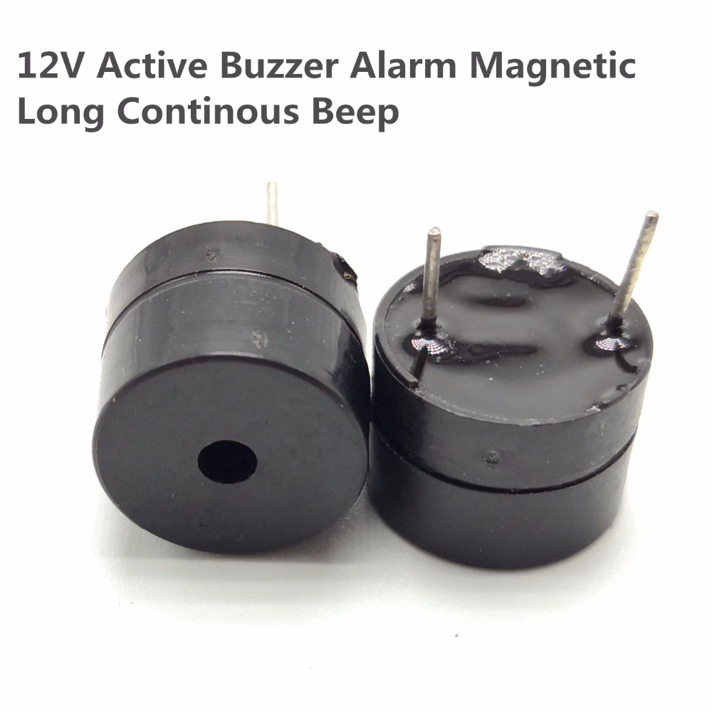 5pcs Original 12V Active Buzzer Alarm Magnetic Long Continous Beep Tone 12*9.5mm Sounder Speaker SOT Plastic Tube Length