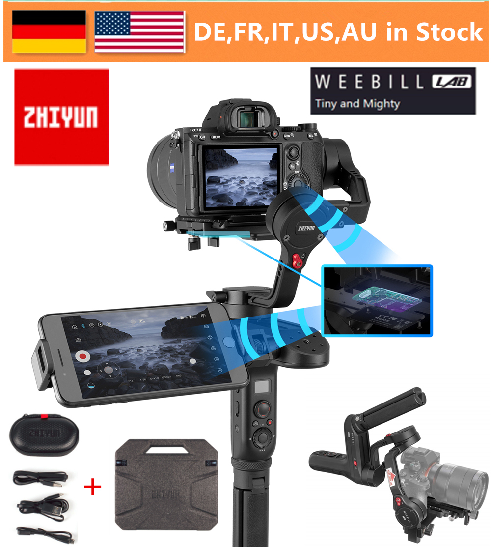 Zhiyun WEEBILL LAB 3-Axis Handheld Gimbal Stabilizer For Almost All Mirrorless Cameras,Smartphone,Max Support 3KG