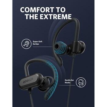 Anker Bluetooth Headphones Soundcore Spirit X Sports Earphones with Wireless Bluetooth 5.0 IPX7 SweatGuard Tech 12-h Battery Mic 1