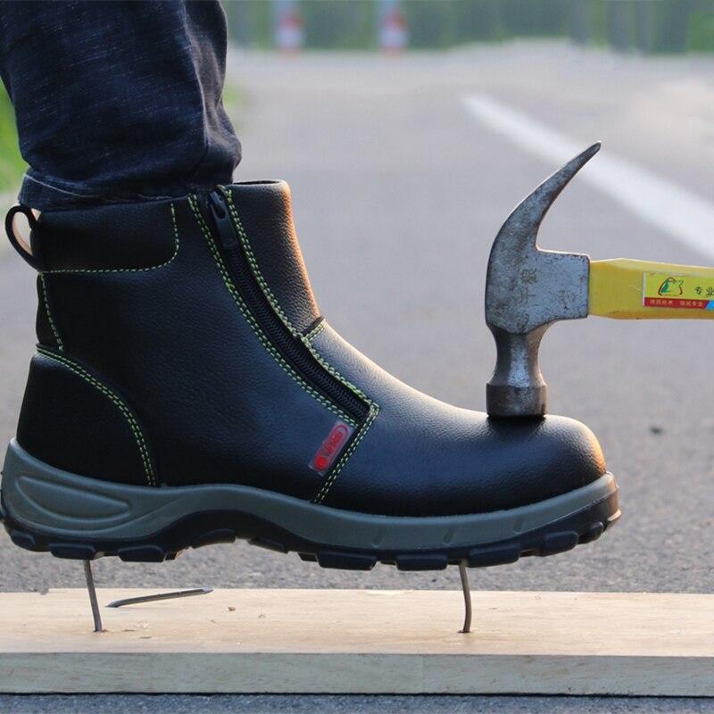 Super taille d'hiver chaussures de sécurité hommes en acier orteil bottines smash ponction preuve chaussures étanche chantier chaussures bot pour hommes