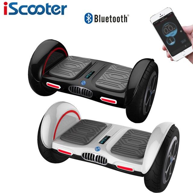 Iscooter ХОВЕРБОРДА 10 inch Bluetooth and приложение giroskuter 2 колеса балансируя gyroscooter Hover доска два колеса oxboard