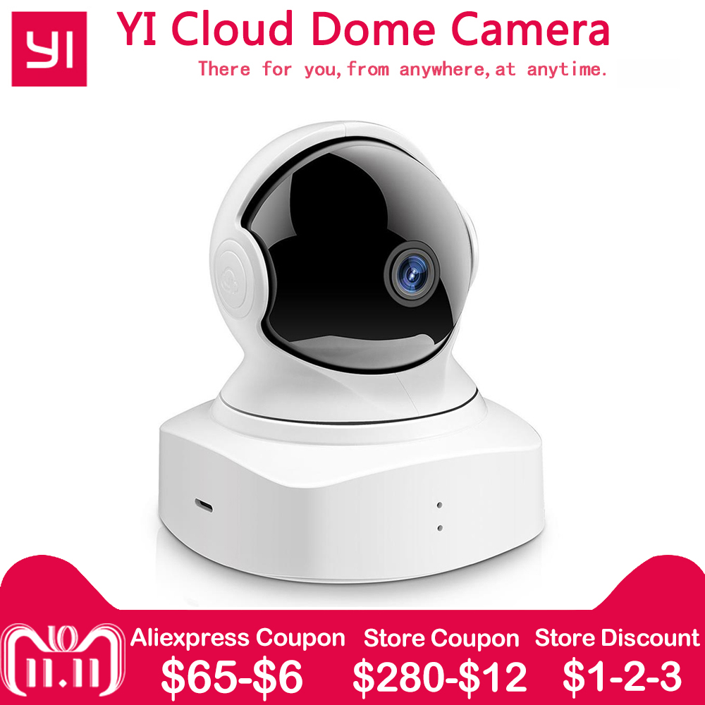 все цены на YI Cloud Dome Camera Baby Monitor IP Camera 1080P HD Night Vision Wireless Wifi Camera Pan/Tilt/Zoom Indoor Security Home Camera