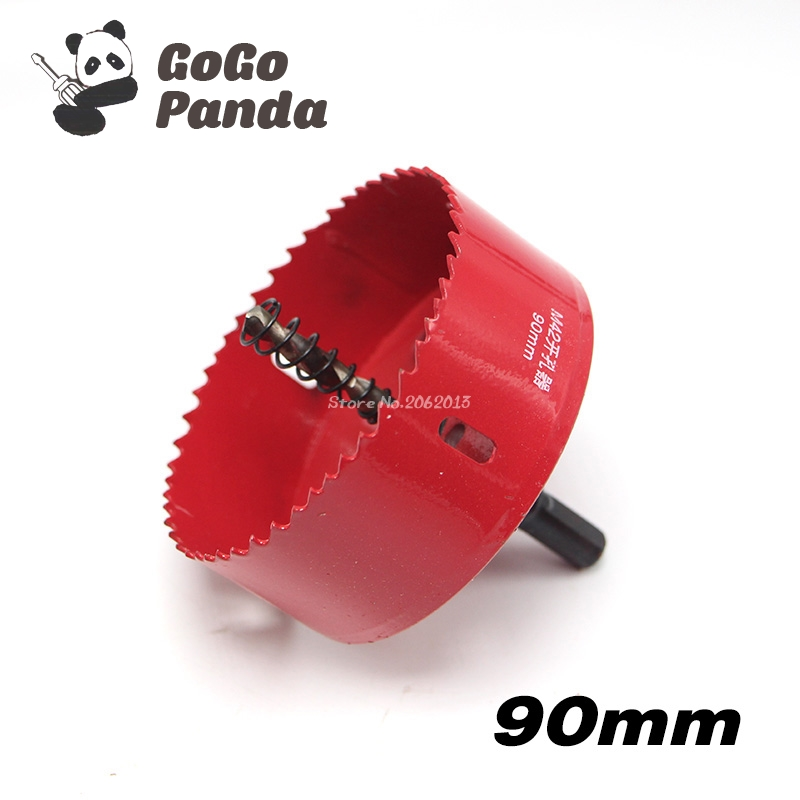 цена на Free Shipping 90mm 3.54 Bi-Metal Wood Hole Saws Bit for Woodworking DIY Wood Cutter Drill Bit