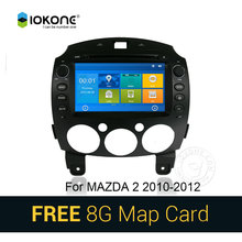 IOKONE Car DVD Video Player GPS navi Stereo multimedia for MAZDA 2 2010 2011 2012 With Bluetooth SWC iPOD 8G SD card