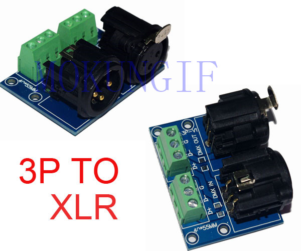 XLR3-3P DMX512 Relays Connector,3pin Terminal Adapter XLR, XLR3-3P Dmx Controller,3P To XLR Use For DMX Controller