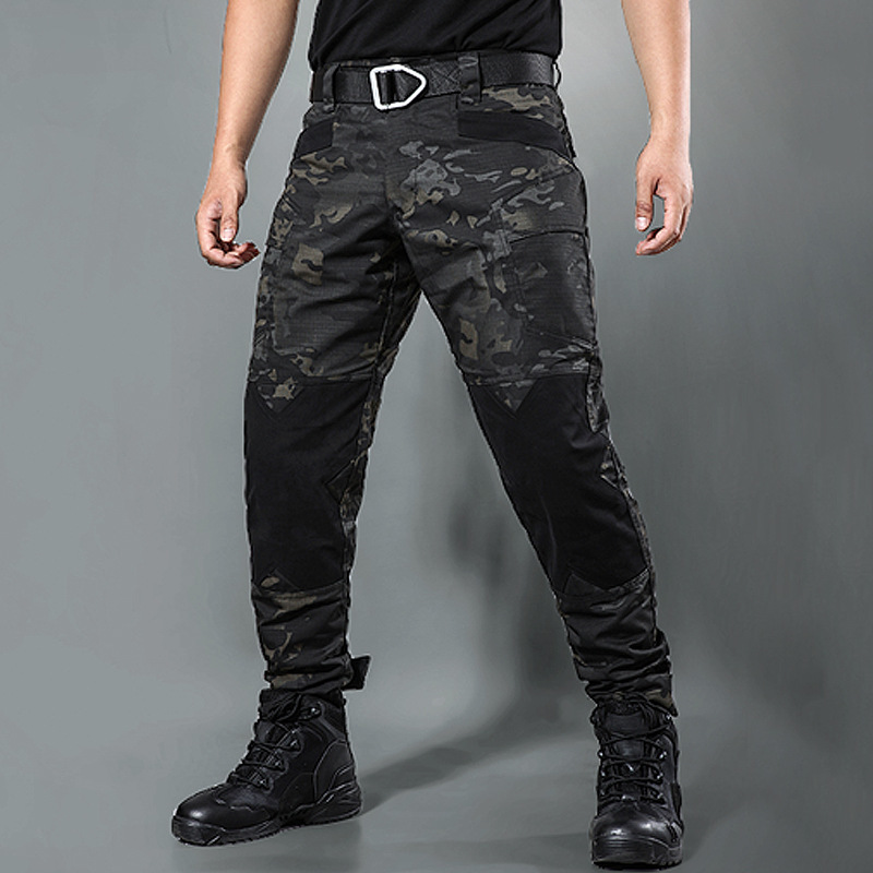 Men s Loose Straight Overalls Camouflage Pants Outdoor Sports Climbing Training Shooting Army Fans Tactical Military