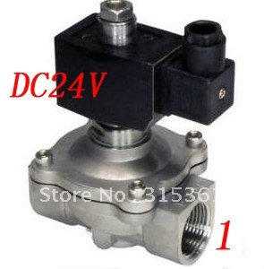 цена на Free Shipping 5PCS 1 25mm Stainless Steel Solenoid Valve Water Normally Open 2 Way VITON Oil Acid DC24V