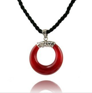 Free shipping 2011 new necklace, 925 sterling silver agate pendant lucky fire * Genuine full moon celebration