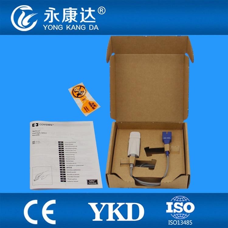 2PC/ Lot Free Shipping, for Original ds-100a spo2 sensor for Adult Finger Clip, DB9pin, adult finger clip spo2 sensor for artema 12 pin male