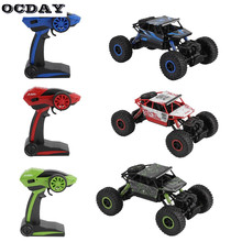 OCDAY RC Car Rock Crawlers 2.4G 4WD Racing Car Double Motors Drive Bigfoot Remote Control Car Model Off-Road Truck Vehicle Toy