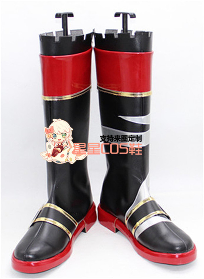 Kantai Collection Kiso Black Long Cosplay Shoes Boots X002