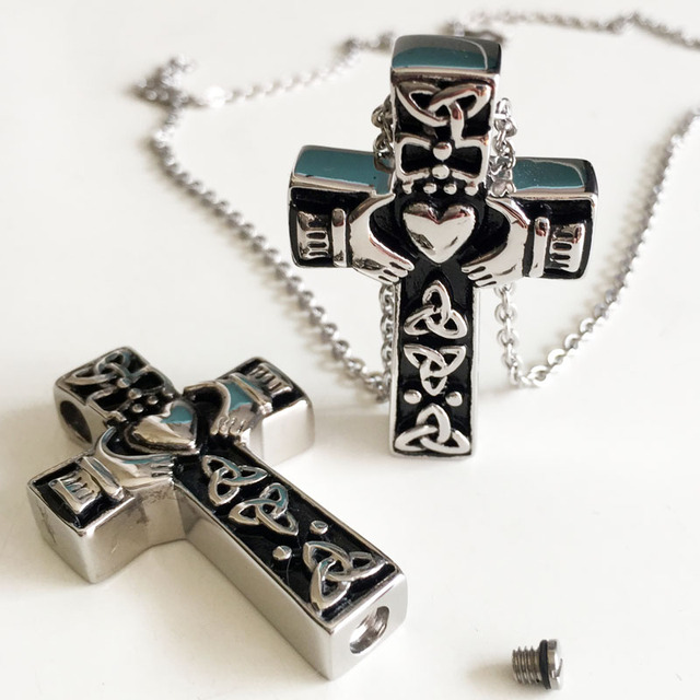 Cross Shaped Ashes Pendant