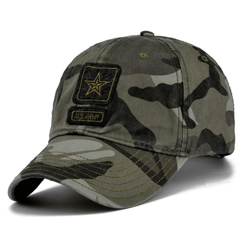 2018 High Quality Army   Cap   Camo   Baseball     Cap   Men Camouflage Snapback Tactical   Cap   Mens   Baseball     Caps   Gorra Snapbacks golf hats
