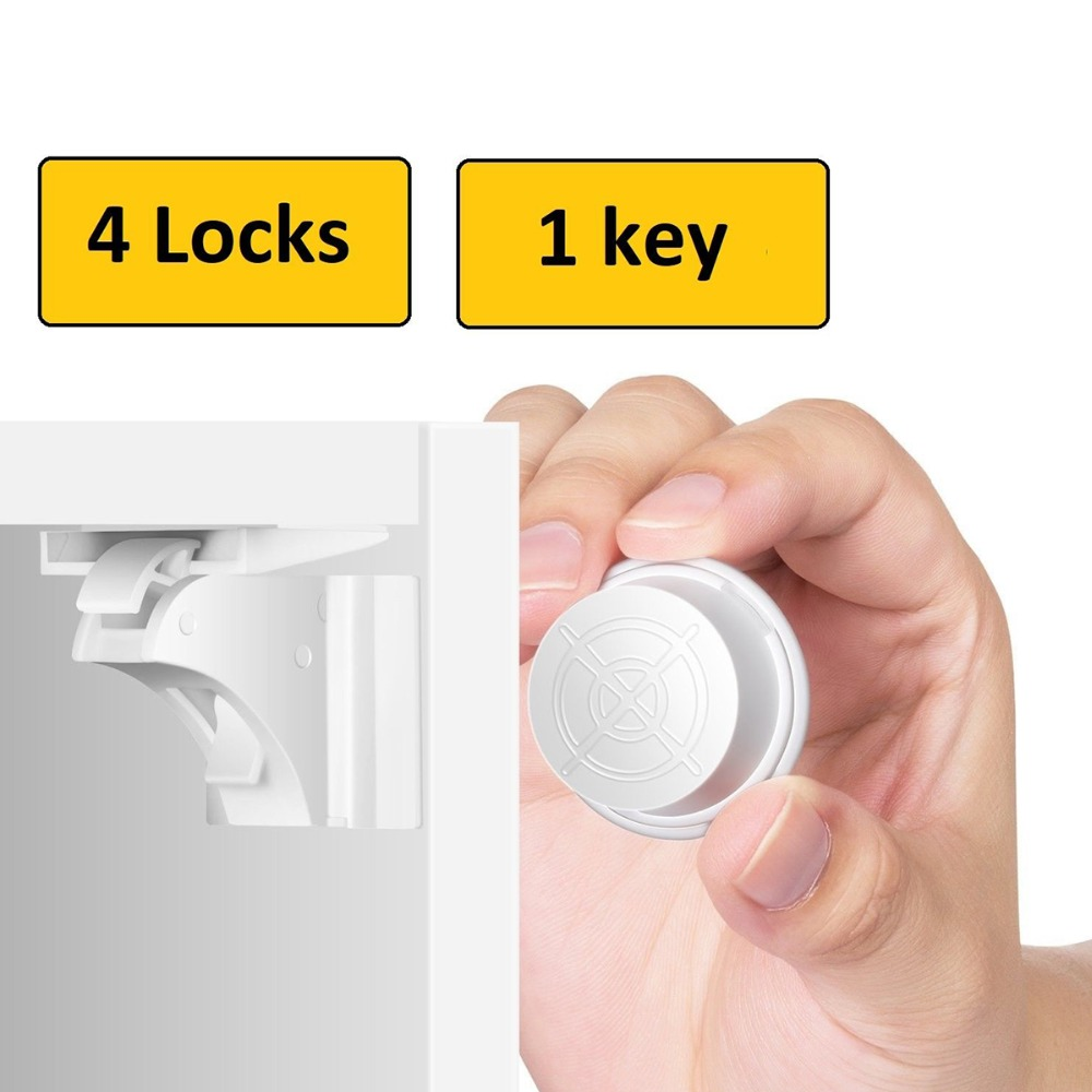 Magnetic Child Lock Baby Safety Protection Cabinet Door Lock Kids Drawer Locker Security Invisible Lock 4/8pcs lock+1/2keysMagnetic Child Lock Baby Safety Protection Cabinet Door Lock Kids Drawer Locker Security Invisible Lock 4/8pcs lock+1/2keys