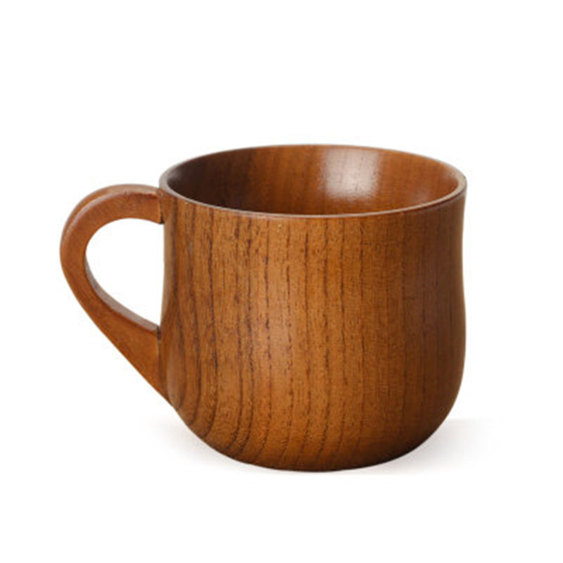 Hot water cup wooden cup with handle jujube wood first-class tea cup creative wooden coffee cup