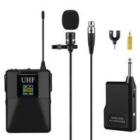Микрофон профессиональный UHF беспроводной микрофон системы Lavalier лацкан микрофонный приемник + передатчик для видеокамеры диктофон