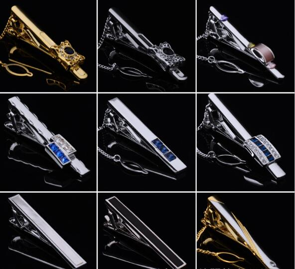 10pcslot Crystal CrownTabacco PipePenAngle Wing Tie Clip Business Rhinestone Necktie Clip Pin Bars Men's Jewelry Wholesale