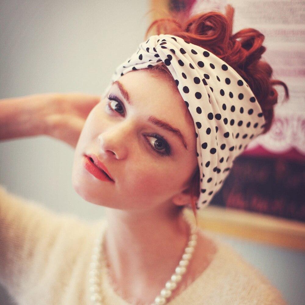 Girl's Accessories Intellective Fashion Girls Milk Silk Knot Headband Women Polka Dot Cross Bow Elastic Head Turban Ladies Headwrap Girl Hair Accessories
