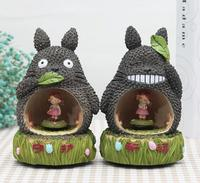 Creative home decoration zakka groceries miyazaki hayao cartoon dragon cat rotating box music box gifts